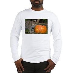 Ocelot With Pumpkin Long Sleeve T-Shirt