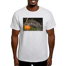 Ocelot Looking into Pumpkin Light T-Shirt