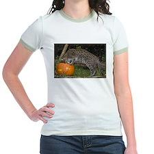 Ocelot Looking into Pumpkin Jr. Ringer T-Shirt