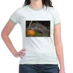 Ocelot Looking into Pumpkin T