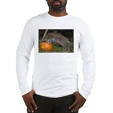 Ocelot Looking into Pumpkin Long Sleeve T-Shirt