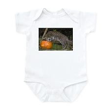 Ocelot Looking into Pumpkin Infant Bodysuit