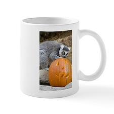 Lemur With Pumpkin Mug
