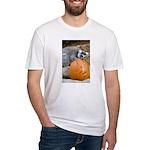 Lemur With Pumpkin Fitted T-Shirt