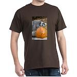 Lemur With Pumpkin Dark T-Shirt