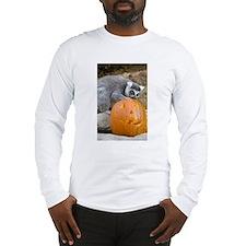 Lemur With Pumpkin Long Sleeve T-Shirt