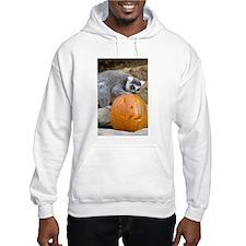 Lemur With Pumpkin Hooded Sweatshirt