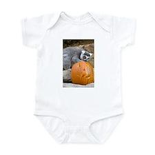 Lemur With Pumpkin Infant Bodysuit