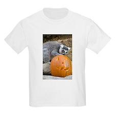 Lemur With Pumpkin Kids Light T-Shirt