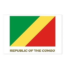 The Republic Of The Congo Flag Gear Postcards (Pac