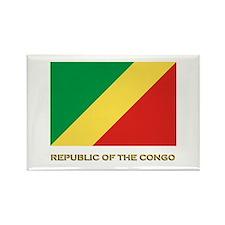 The Republic Of The Congo Flag Gear Rectangle Magn