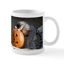 Lemur Looking into Pumpkin Mug