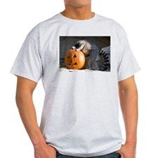 Lemur Looking into Pumpkin Light T-Shirt
