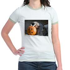 Lemur Looking into Pumpkin Jr. Ringer T-Shirt
