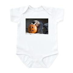 Lemur Looking into Pumpkin Infant Bodysuit
