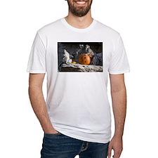 Lemurs With Pumpkin Fitted T-Shirt