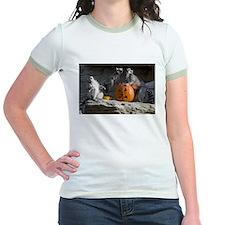 Lemurs With Pumpkin Jr. Ringer T-Shirt