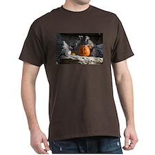 Lemurs With Pumpkin Dark T-Shirt