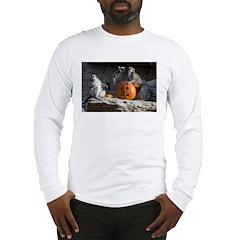 Lemurs With Pumpkin Long Sleeve T-Shirt