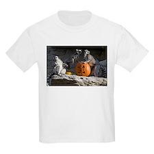 Lemurs With Pumpkin Kids Light T-Shirt