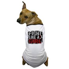 Fight Like a Girl 31.8 Head and Neck Cancer Dog T-