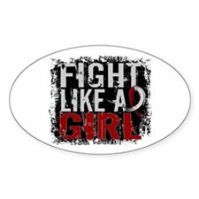 Licensed Fight Like a Girl 31.8 Hea Decal