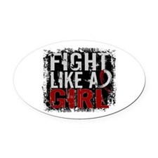 Fight Like a Girl 31.8 Head and Neck Cancer Oval C