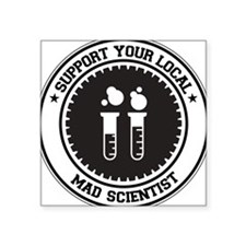Support Mad Scientist Rectangle Sticker
