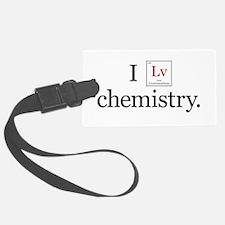 I Lv Chemistry Luggage Tag