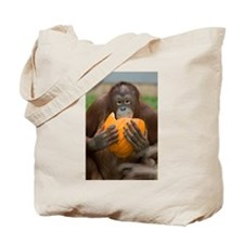 Orangutan with Pumpkin Tote Bag