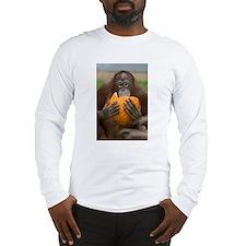 Orangutan with Pumpkin Long Sleeve T-Shirt