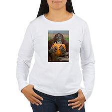 Orangutan with Pumpkin Women's Long Sleeve T-Shirt