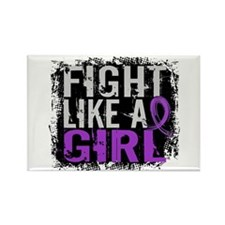 Licensed Fight Like a Girl 31.8 F Rectangle Magnet