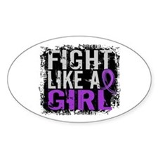 Licensed Fight Like a Girl 31.8 Fib Decal