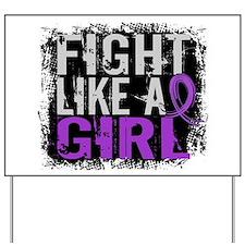 Licensed Fight Like a Girl 31.8 Fibromya Yard Sign