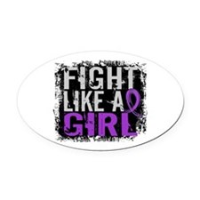 Licensed Fight Like a Girl 31.8 Fi Oval Car Magnet