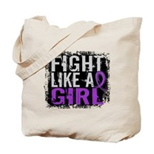 Licensed Fight Like a Girl 31.8 Fibromyal Tote Bag