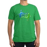 Dual Geckos Men's Fitted T-Shirt (dark)