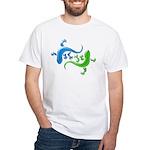 Dual Geckos White T-Shirt