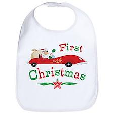 Race Santa 1st Christmas Bib