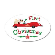 Race Santa 1st Christmas Wall Decal