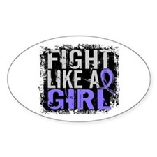 Licensed Fight Like a Girl 31.8 Eso Stickers
