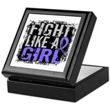 Fight like a girl Square Keepsake Boxes