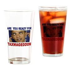 TAXMAGEDDON Drinking Glass