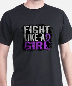 Licensed Fight Like a Girl 31.8 Epile T-Shirt