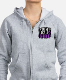 Licensed Fight Like a Girl 31.8 Zipped Hoodie