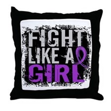 Licensed Fight Like a Girl 31.8 Epile Throw Pillow
