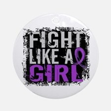 Licensed Fight Like a Girl 31.8 E Ornament (Round)