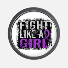 Licensed Fight Like a Girl 31.8 Epileps Wall Clock