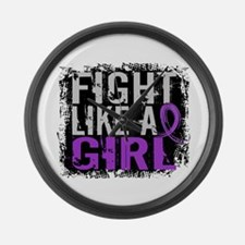 Licensed Fight Like a Girl 31.8 E Large Wall Clock